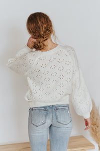 Iris Knit Sweater in Cream