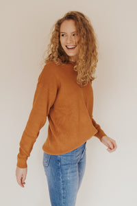 The Reagan Sweater in Camel