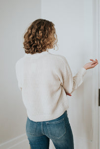 The Jenna Cropped Button Sweater