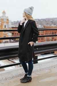The Edmonton Coat in Black