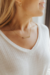 """Bloom With Grace"" Bar Necklace"