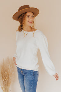 The Bridgett Sweater in Ivory