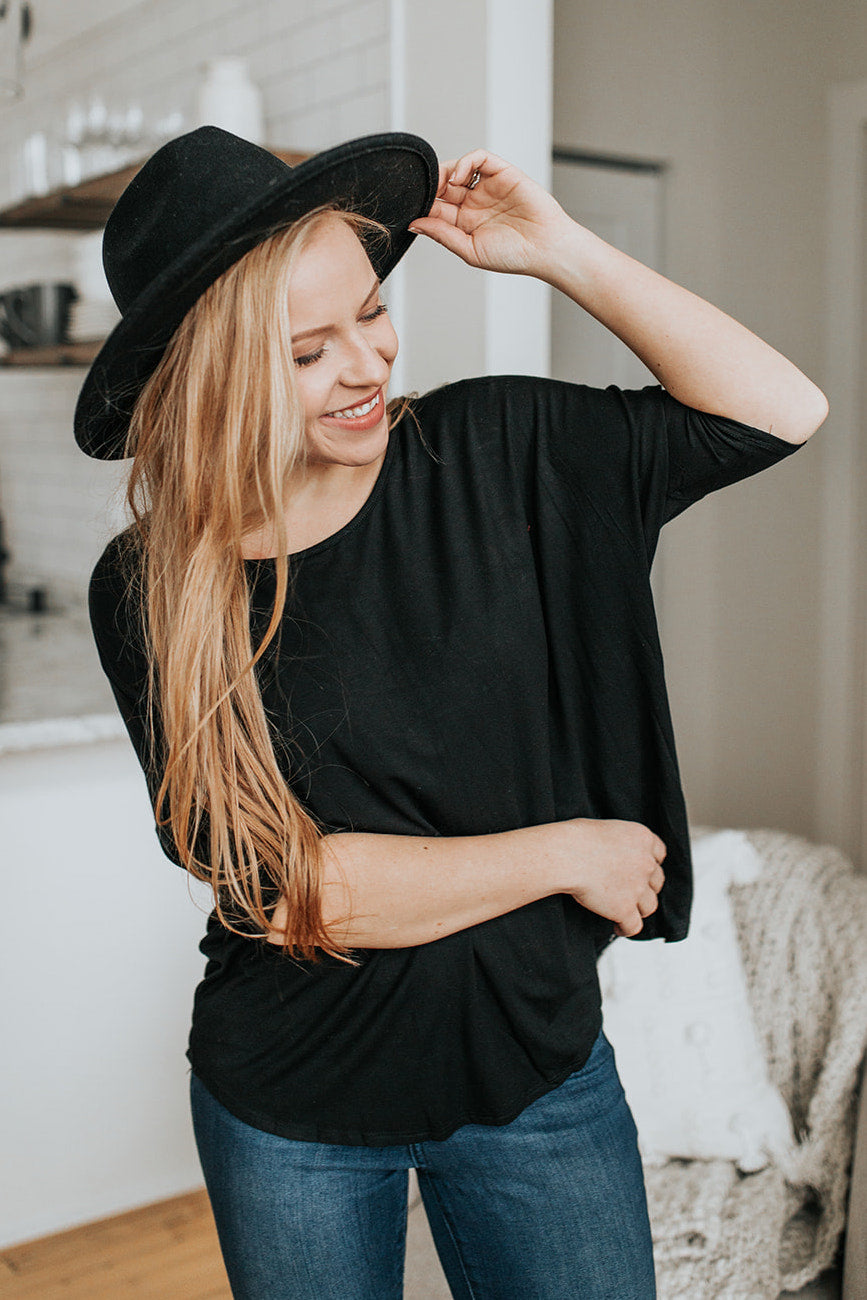Our Everyday Loose Fit Top in Black