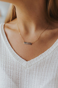 """Choose Joy"" Mini Bar Necklace"