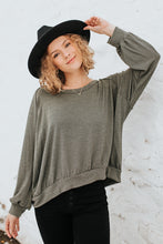 The Wren Striped Top in Olive