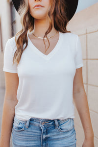 Restocked: Our Everyday V-Neck Tee in Ivory