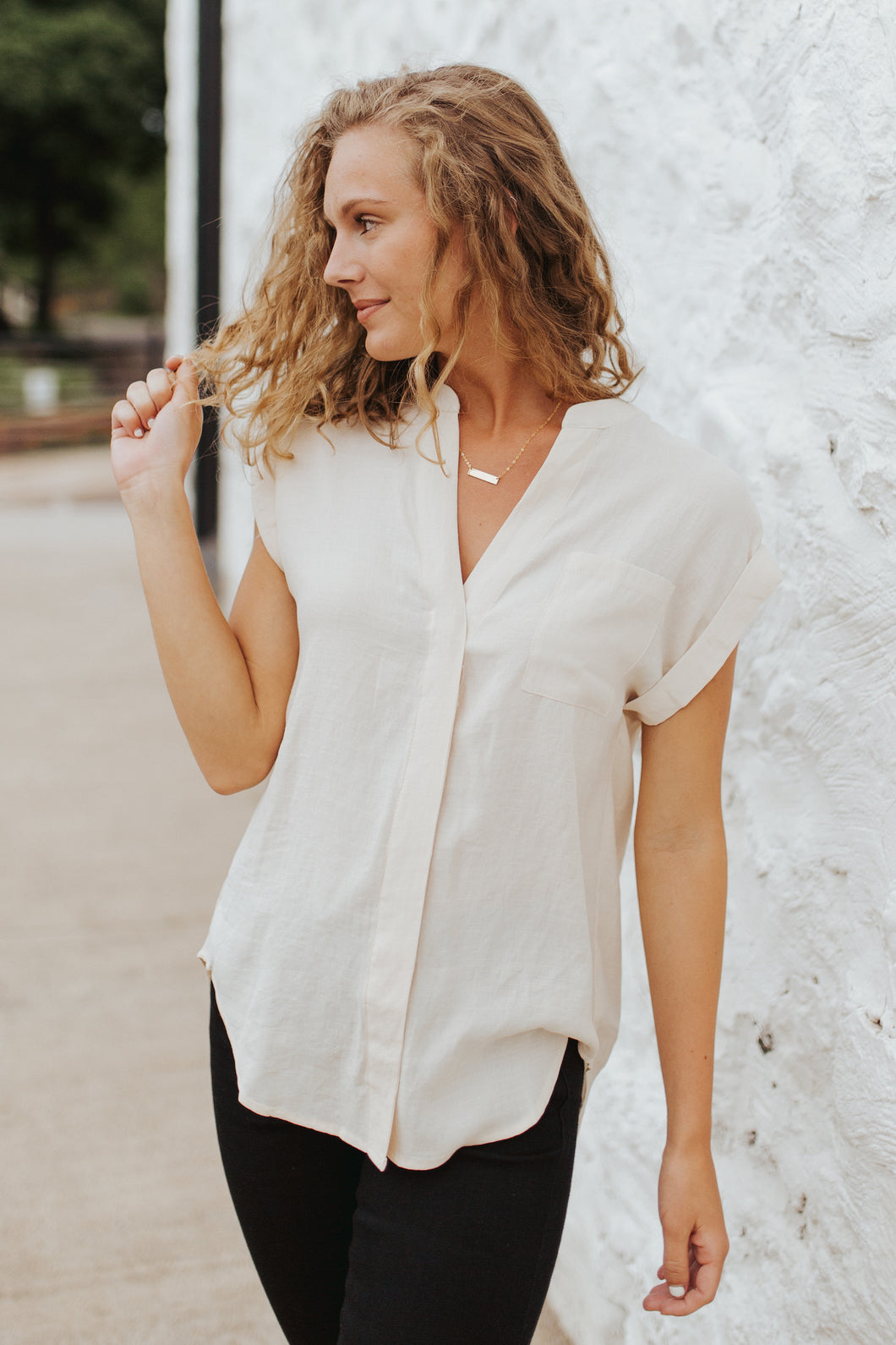 The Harper Button Blouse