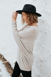 Our Everyday Dolman Tunic in Oatmeal