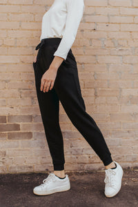 The Jersey Knit Jogger in Black