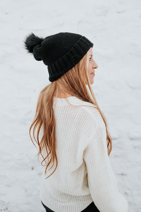 The Jovie Winter Hat in Black
