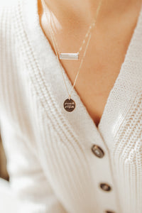 Present-Perfect Disc Necklace