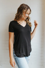 Our Everyday V-Neck Tee in Black