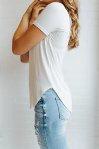 Our Everyday V-Neck Tee in Ivory