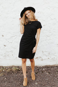 The Taylor Tee Shirt Dress with Tie