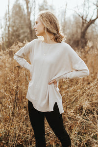 The Hudson Sweater Top in Cream
