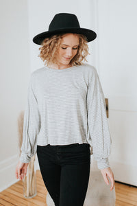 The Cassidy Top in Light Gray