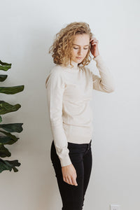 The Adrienne Mock Neck Top