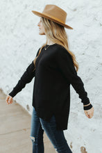 The Hudson Sweater Top in Black
