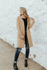 The Mabel Cardigan in Camel