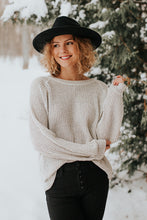 The Carlie Knit Sweater in Oatmeal