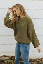 The Morgan Knit Sweater in Olive