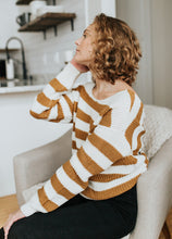 The Hollis Striped Sweater in Mustard