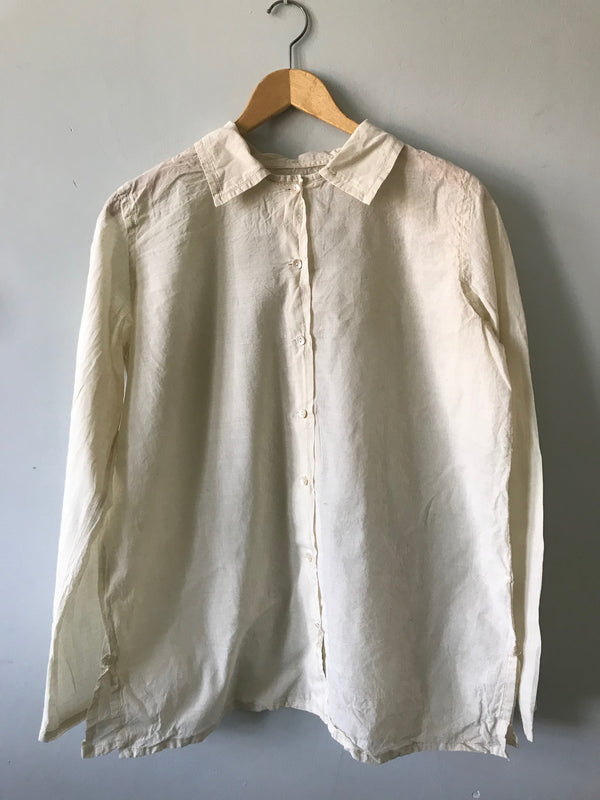 Auntie Oti Button Shirt- Natural