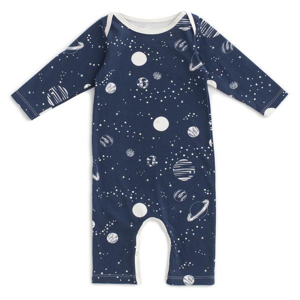 Winter Water Factory Long Sleeve Romper- Planets Night Sky