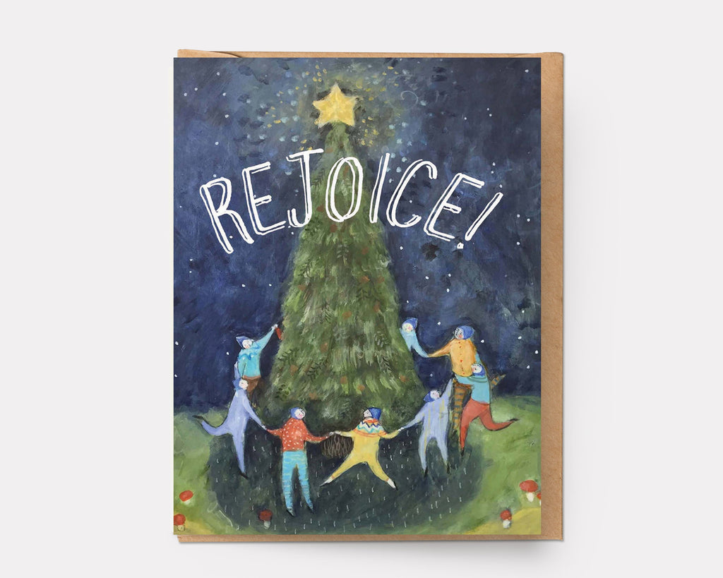 Ingrid Press the Tree Greeting Card