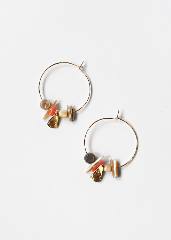 See Real Flowers Small Pacifica Hoop Earrings