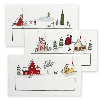 Hartland Brooklyn Pack of 48 Holiday Village Mini Notes