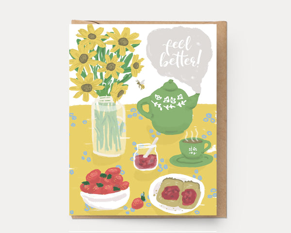 Ingrid Press Feel Better Table Greeting Card