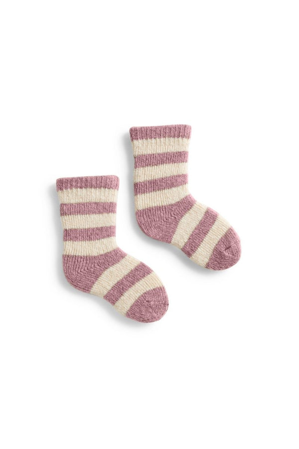 Lisa b. Baby Rugby Stripe Wool Cashmere Socks