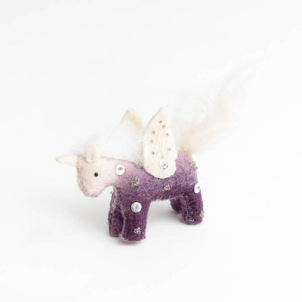Craftspring Purple Kid Unicorn Ornament
