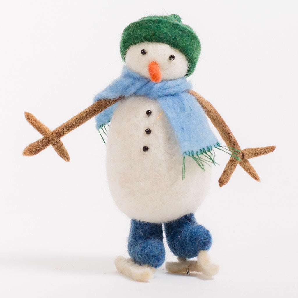 Craftspring Round the Rink Snowman Ornament