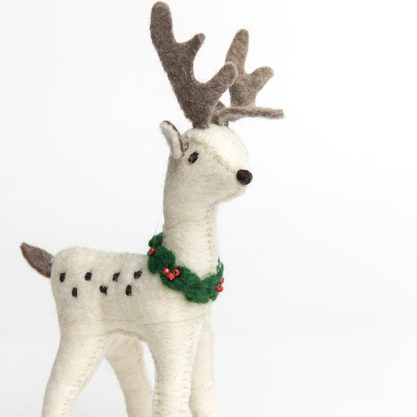 Craftspring Large Snow Buck Reindeer Ornament