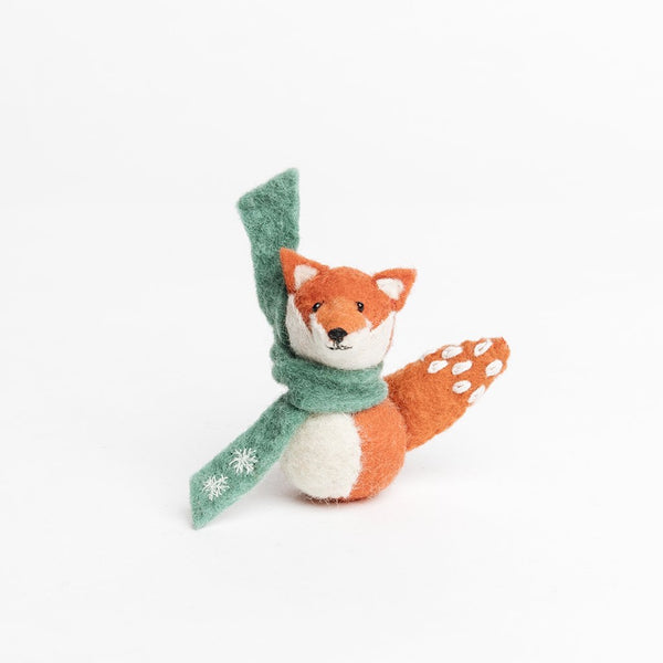 Craftspring Snow Kiss Fox Ornament