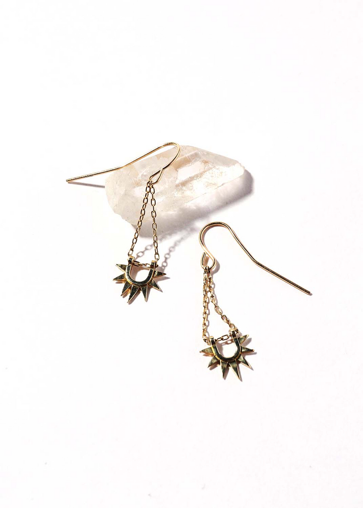 Iwona Ludyga Sister Sun Rays Short Earrings