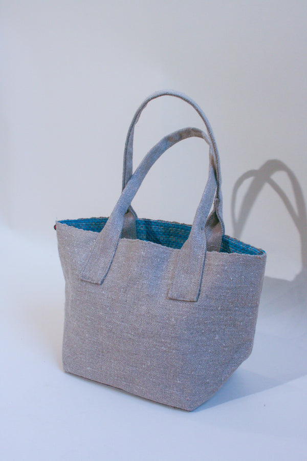Hand Woven Natural Quilt-Lined Carryall - Small