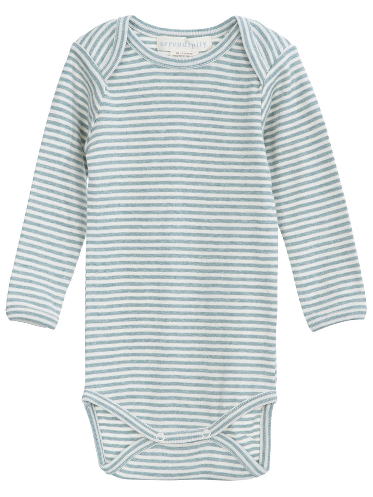 Baby Body Stripe - Lake/Ecru