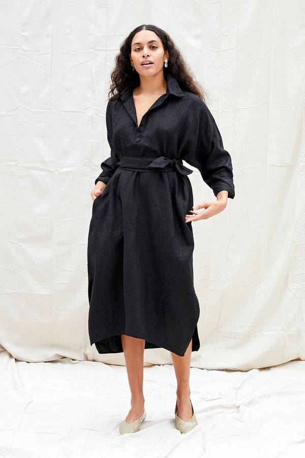 Rachel Craven Mimi Dress- Black Linen