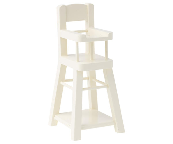 Maileg High Chair for Baby Mouse Micro White