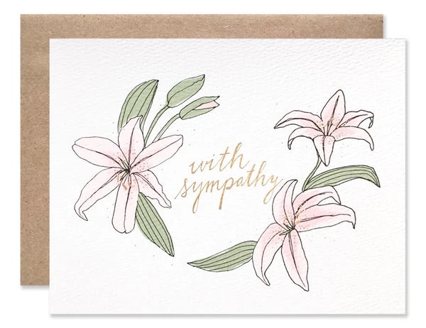 With Sympathy Lily Card