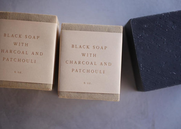 Black Soap with Charcoal & Patchouli