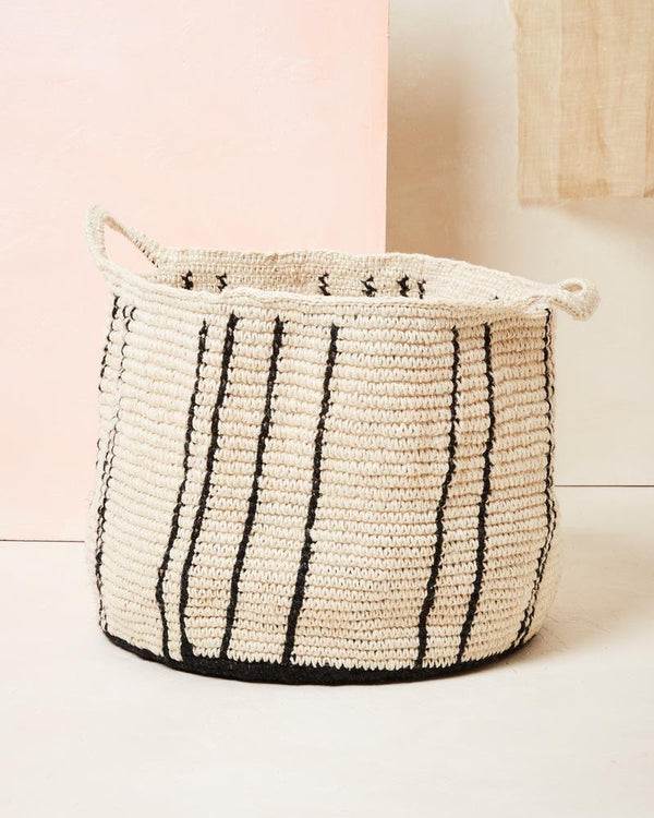 Minna Large Stripes Basket