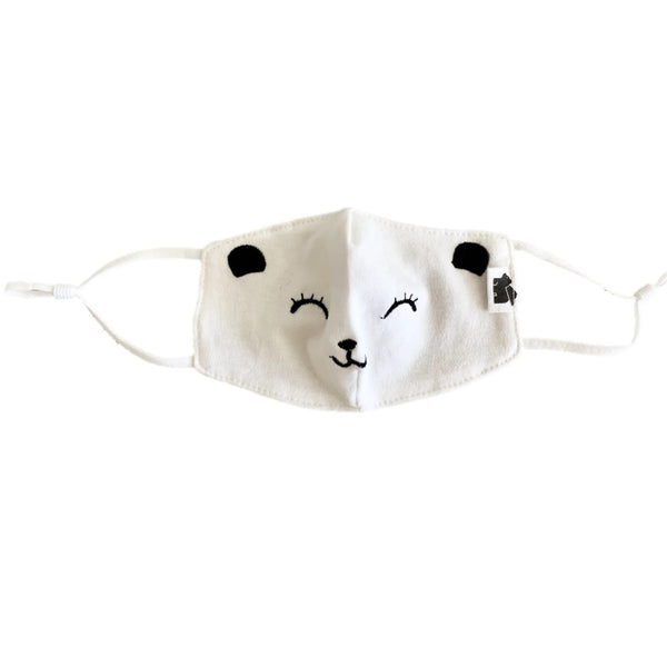 Paper Cape Organic Embroidered Bear Kid's Face Mask
