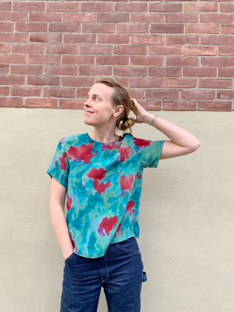 Lauren Luloff Hand Painted Silk Shirt 2