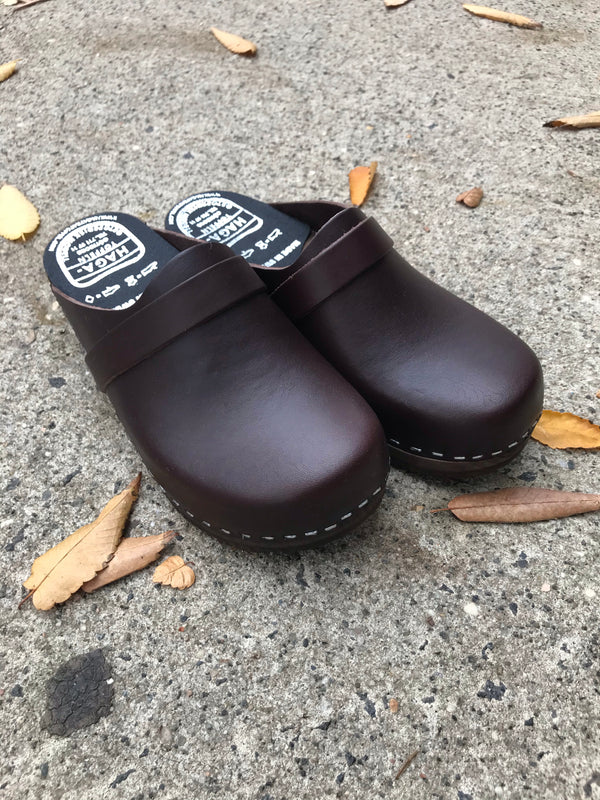 Haga Toffeln Brun Swedish Clogs