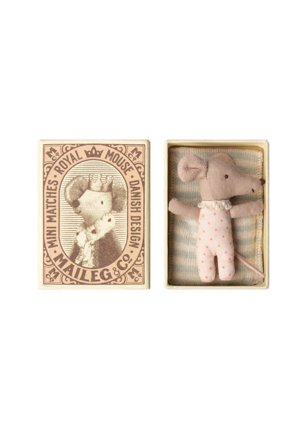 Maileg Sleepy/Wakey Baby Mouse in Box