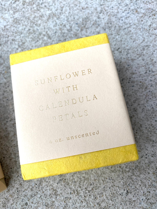 Unscented Sunflower Soap with Calendula Petals